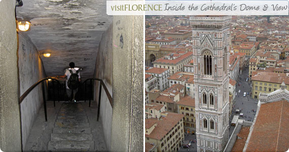 Climb inside Florence's dome and view toward Giotto's tower