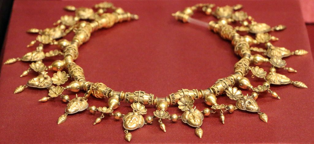 A necklace part of the Castellani collection that was stolen, but lockily quickly retrieved.