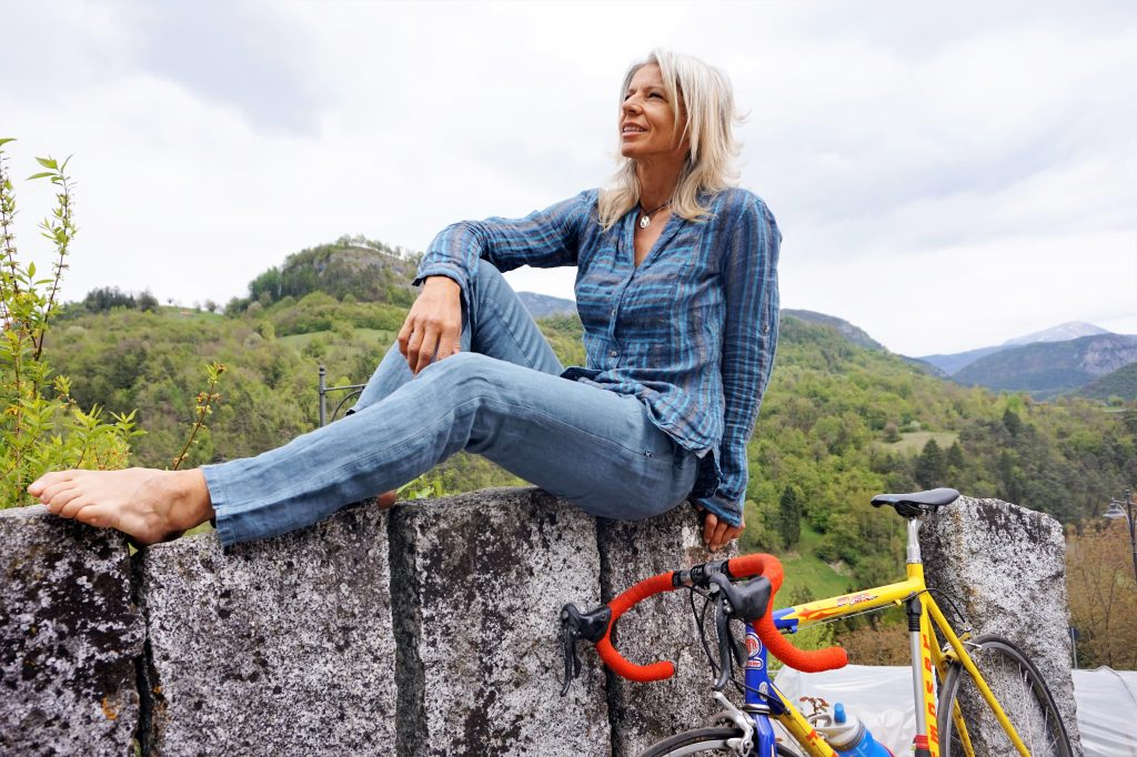 Antonella Bellutti, ciclista vegan, due volte medaglia d'oro alle Olimpiadi.